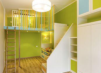 Möbel des Kinderzimmers