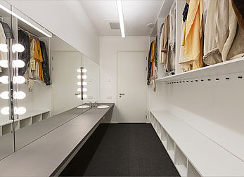 Costume storeroom and dressing room